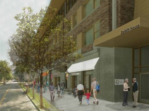 Rendered View from Court St